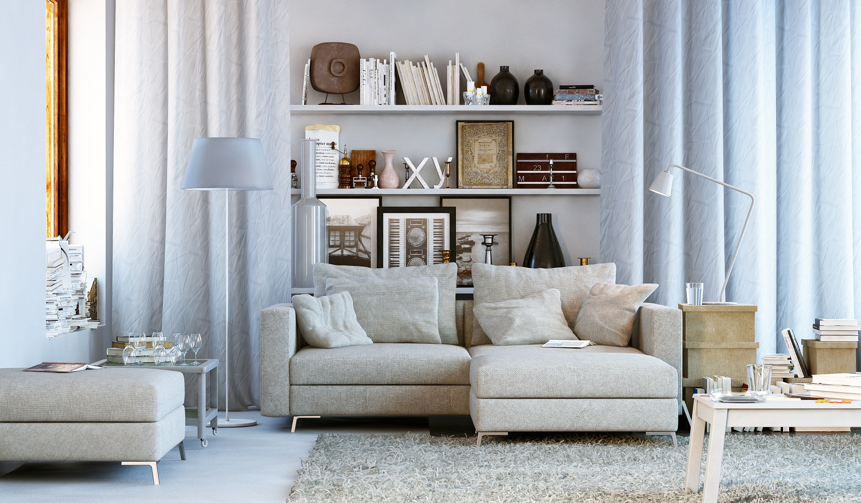 Wohnzimmer in Wohnung – Small living room